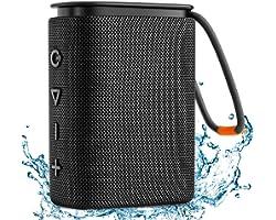 Bluetooth Lautsprecher, Hadisala H2 Bluetooth 5.0 Kabellose Tragbare Musikbox mit Rich Bass HD Stereo Sound, IPX7 Wasserdicht