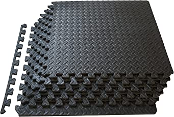 Kobo AC-62 Puzzle Exercise Mat, EVA Foam Interlocking Tiles, Protective Flooring for Gym Equipment and Cushion for Workouts (6 Feet x 4 Feet)