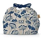 monbento - MB Pochette graphic Ginkgo Lunch bag - Sac bento Polyester avec motifs japonais - Idéal pour les lunch box MB Orig