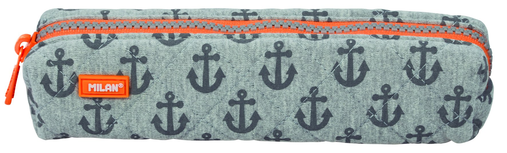 Milan Mini Anchors Estuches, 20 cm, Gris/Naranja