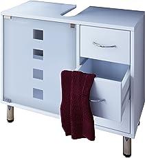 VCM Waschtischunterschrank Bad Möbel Unterschrank Schubladen Badschrank Badmöbel Weiss 67 x 56 x 30 cm Darola