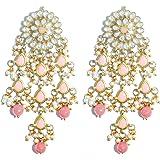 Karatcart Gold Plated Kundan Tassel Earrings