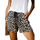 GOSOPIN Damen Casual Shorts Sommer Freizeitshorts Sport Yoga Kurze Hose mit Gummizug Noos Shorts Sweatpants Laufshorts Easy S