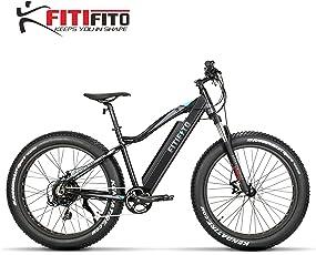Fitifito FT26 Elektrofahrrad Fatbike E-Bike Pedelec, 36V 250W Heckmotor, Kenda 26 x 4,0 MTB Reifen, Matt Schwarz Grau