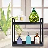 Plantex Deluxe 2-Tier Bathroom Shelf/Counter-top Organizer-Cosmetic Storage/Kitchen Spice Rack/Bathroom Accessories(Black)