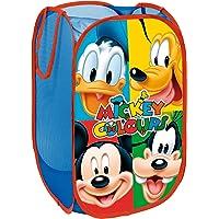 Superdiver Panier de Rangement à Linge Pliable pour Enfant, Polyester 36x36x58cm (Mickey and Friends)