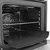 Revêtement de four universel en téflon Spares2go antiadhésif - Doublure pour cuisinière assistée par ventilateur (lot de 2)