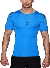 Azani Original Series Half Sleeve Compression Tops - Blue