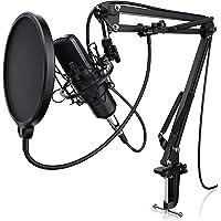 LIAM & DAAN Kondensatormikrofon Mikrofonarm - Studiomikrofon Set - Großmembran Kondensatormikrofon Mikrofonarm und…