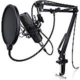 LIAM & DAAN Condensatormicrofoon microfoonarm - studiomicrofoon set - groot membraan condensatormicrofoon microfoonarm en spi