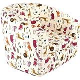 Emall Life Kid's Luxury Armchair Children's Tub Chair Cartoon Sofa Wooden Frame (Animals)