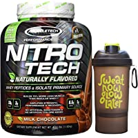 Muscletech Performance Series Nitrotech Naturally Flavored Whey Protein Peptides & Isolate - 4.02 lbs (1.82 kg) (Milk Chocolate)