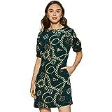 KRAVE Women's Synthetic Shift Knee-Length Dress