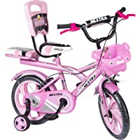 Speed Bird Baby Cycle 14-T Robust Double Seat Kid Bicycle for Boys & Girls - Age Group 3-6 Years (Baby Pink)