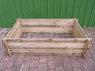 stabiler Holzkomposter Komposter Kompostbehälter Hochbeet 195 x 120 x 52 cm