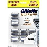 Gillette SkinGuard Sensitive - Paquete de piel sensible para hombres con 14 cuchillas de repuesto
