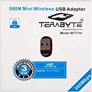 Terabyte 500Mbps Mini Wireless USB Adapter (Black)