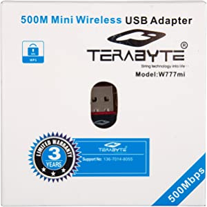 Terabyte Wireless Network USB Adapter  Black