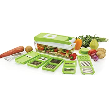 Ganesh Vegetable Dicer, 12 Cutting Blades, Green