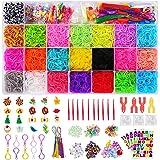 CGBOOM Bandas de Goma para Hacer Pulseras, 7000+ Pcs Pulseras Gomas Niños, 22 Colores, DIY Cintas de Telar Kit de Pulseras co
