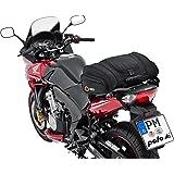 QBag Motorrad-Hecktasche Hecktasche Motorrad Hecktasche 05 Motorradgepäck für Soziussitz/Gepäckträger 22-30 Liter Stauraum leichtes Be-/Entladen inkl. Regenhaube schwarz