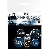 Sherlock Official - Pines tipo botón con personajes (Paquete de 6)