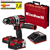 Einhell TE-CD 18 Li-i BL Power-X-Change - Taladro percutor inalámbrico 18V con 2 baterías (2Ah), cargador y maletín, sin esco
