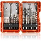 Amazon Brand - Umi 15tlg. Steinbohrer Set, mit Aufbewahrungskoffer, 3, 4, 5, 6, 8, 10mm für Mauerwerk, Beton, Stein, Ziegel,