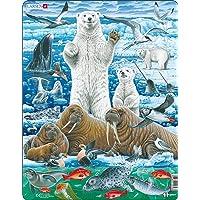 Larsen FH42 Ours Polaires et morses sur l'océan Arctique, Puzzle Cadre avec de 46 pièces