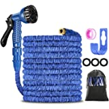 Garden Hose 100FT ,Expanding Garden Water Hose Pipe with 7 Function Spray Gun, 3 Times Expandable Watering Hose ,Flexible Mag
