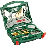 Bosch 70-delige X-Line Titanium boren- en schroefbitset (hout, steen en metaal, accessoire boormachine)