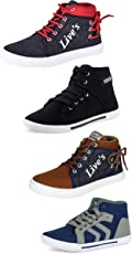 Tempo Men's Combo Pack of 4 Sneakers Shoes