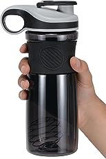iShake Avenger Plastic Shaker Bottle (Black/Grey)