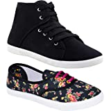 Shoefly Women Multicolour Latest Collection Sneakers Shoes-Pack of 2 (Combo-(2)-611-1207)