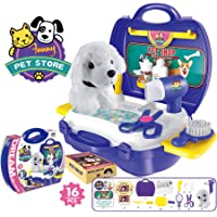 Popsugar Pet Shop Set with Dryer and Accessories for Kids, Purple