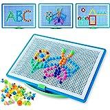 Colmanda Mosaic Puzzle, 296 Pcs Creative Mosaique Puzzle, Mosaïques Jouets Educatifs, Jeu Mosaïques Clous Champignon Cadeau d