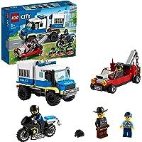 LEGO City Police Trasporto dei Prigionieri della Polizia, con Camion e Moto Giocattolo, Set di Espansione Stazione della…