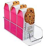 iDesign boîte de rangement, petit bac plastique pour le placard ou le frigo, bac alimentaire fin sans couvercle, transparent