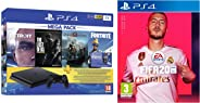 PS4 1TB Slim console (Free Games : Detroit /The Last of Us/God of War/Fortnight Voucher /PSN 3 Month Inside the Box & FIFA 2