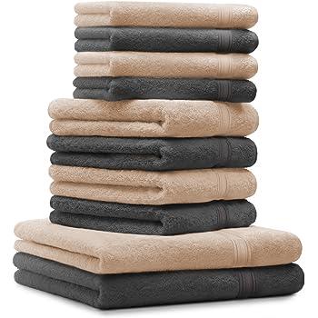 BETZ. Set di 10 Asciugamani 2 Asciugamani da Doccia 70 x 140 cm 8417de7db14b