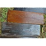 Lot de 2 moules façon planche de bois pour coulage du béton #S05