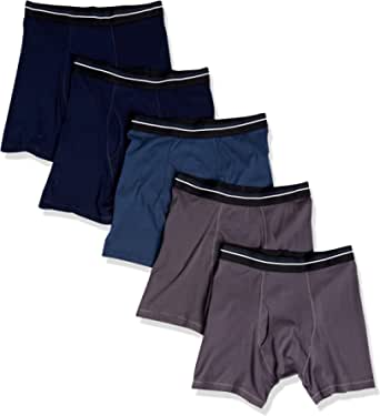 Amazon Essentials Men's Cotton Boxer Briefs, Pack of 5