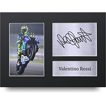 HWC Trading Valentino Rossi Gift Signed A4 Printed Autograph Superbikes  MotoGP Gifts Print Photo Picture Display b923d12553bf