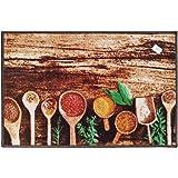 سجادة مطبخ برسومات ملاعق خشبية 120 × 180 سم