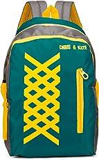 Chris & Kate Green School Bag   College Bag   Casual Backpack (27 litres) (CKB_113AI)