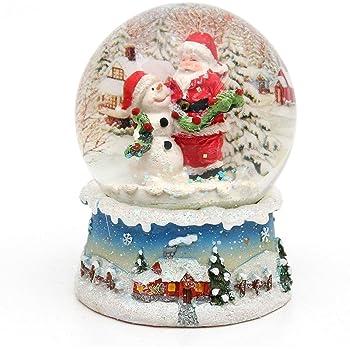 100mm Musical Santa Snow Globe Premier Decorations Christmas MO151339