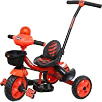 Luusa Tricycle Lovely Bike for Kids with Parental Control (Red)