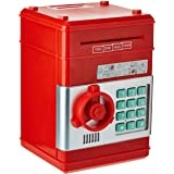 Kids Mini Electronic Money Bank Coin Cash Saving Box,RED