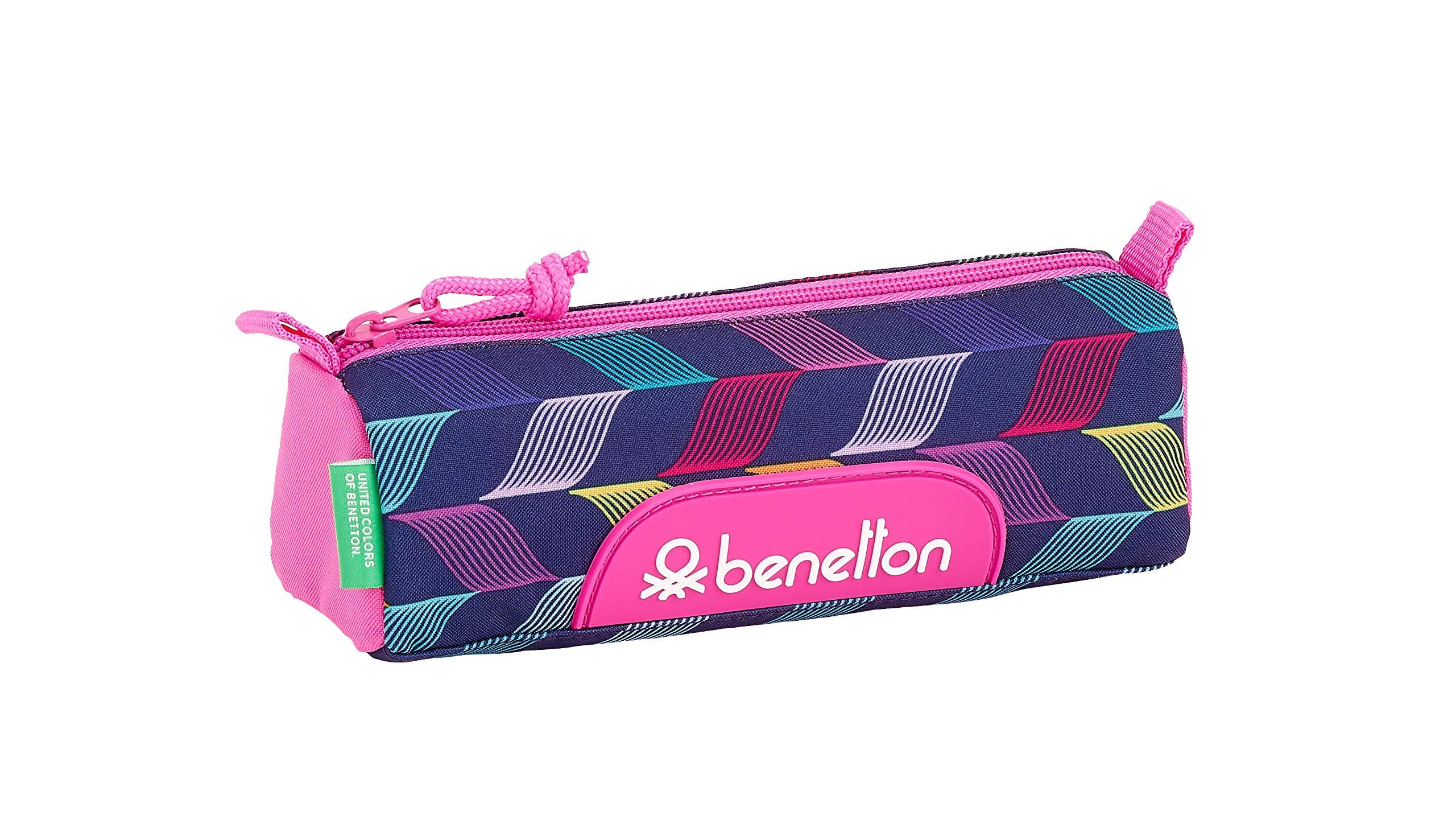 Benetton «Ondas» Oficial Estuche Escolar 210x70x80mm