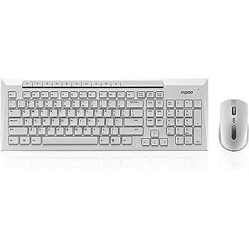 a75184e9473 Rapoo 8200P 5GHz Wireless Desktop Combo Set White UK Layout: Amazon ...